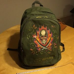 Super big Ed Hardy by Christian Audigier backpack